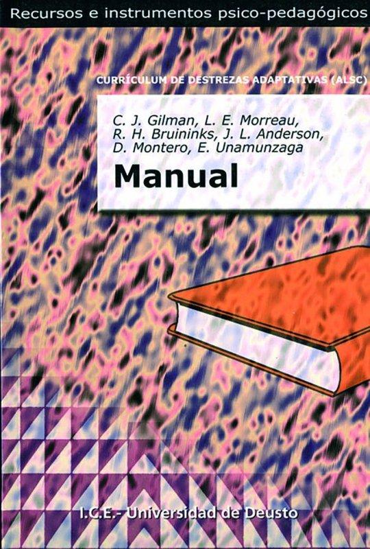 Manual. Currículum de destrezas adaptativas (ALSC)