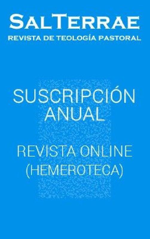 Revista Sal Terrae. Descarga ON-LINE  (sin ejemplar impreso)