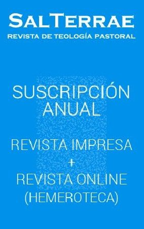 Revista Sal Terrae. Ejemplar IMPRESO + descarga ON-LINE