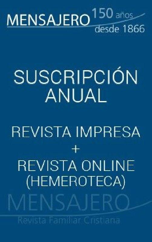 Revista Mensajero - Suscripción España 11 números al año