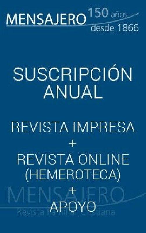 Revista Mensajero - Suscripción de apoyo (11 números al año)
