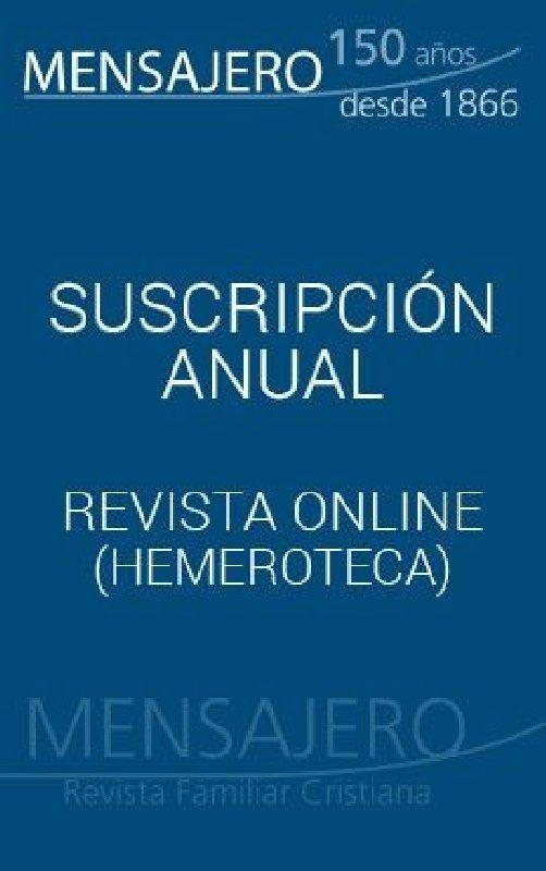 Revista Mensajero - Suscripción extranjero (11 números al año)