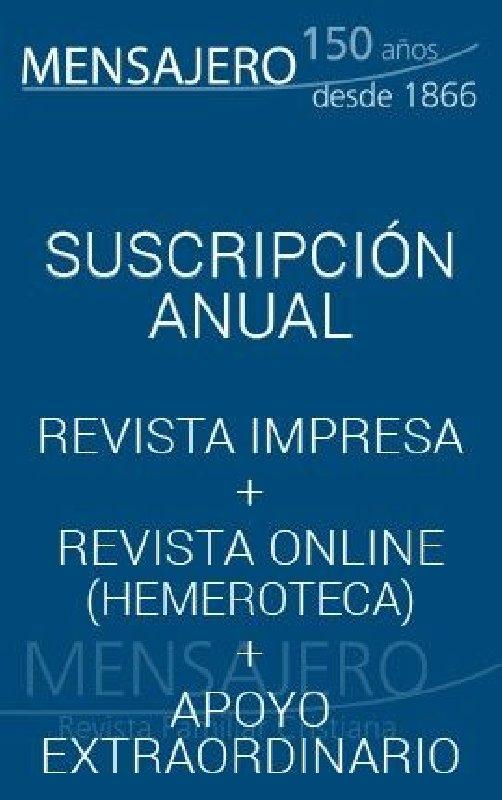 Revista Mensajero - Suscripción apoyo extraordinario (11 números al año)