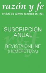 Revista Razón y Fe. Descarga ON-LINE (sin ejemplar impreso)