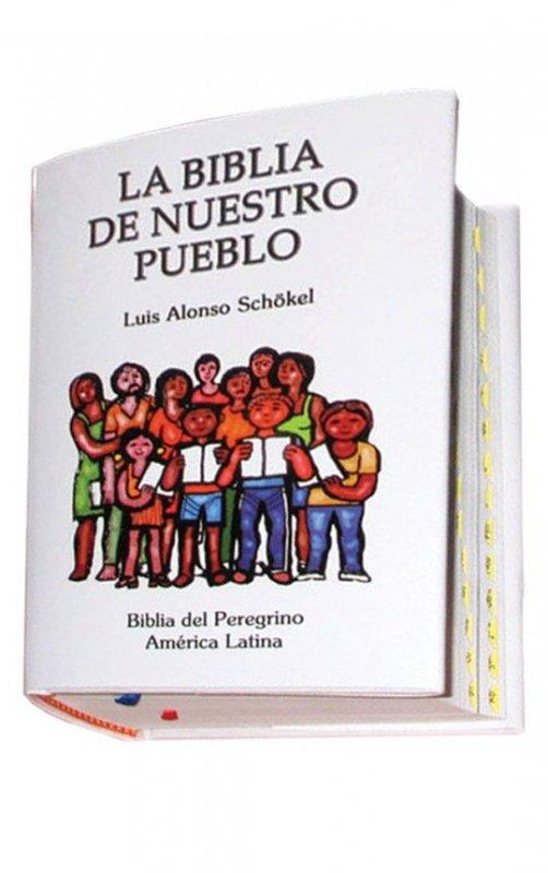 LA BIBLIA DE NUESTRO PUEBLO. Biblia del Peregrino. América Latina. Edición bolsillo. CUERO - LUJO