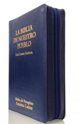 Manual estuche de cuero Índice de uña - LA BIBLIA DE NUESTRO PUEBLO. América Latina