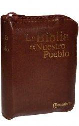 Mini estuche de cuero - LA BIBLIA DE NUESTRO PUEBLO. América Latina