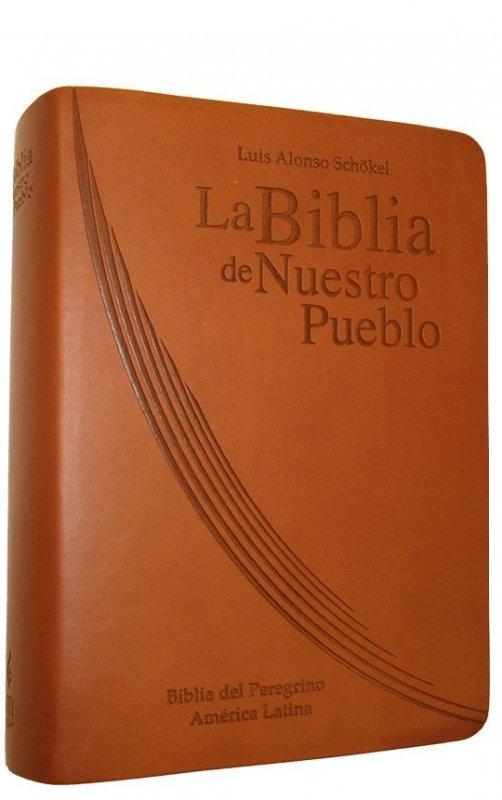 Popular Encuadernación de piel - LA BIBLIA DE NUESTRO PUEBLO. América Latina