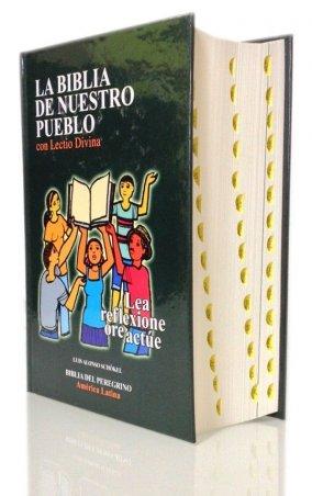 Popular Tapa dura con Lectio Divina e índice de uña - LA BIBLIA DE NUESTRO PUEBLO. América Latina