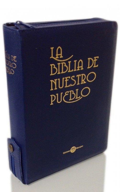 BIBLIA DE NUESTRO PUEBLO. Estuche de piel con cierre