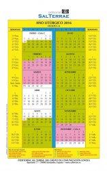Calendario del año Litúrgico 2016 (PDF)