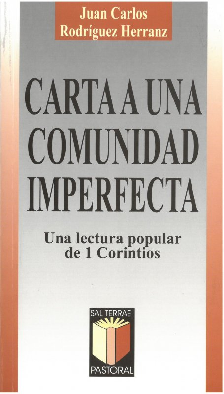 Carta a una comunidad imperfecta