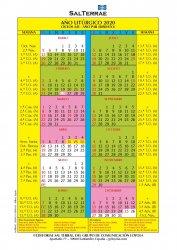 Calendario del año litúrgico 2020 (PDF)