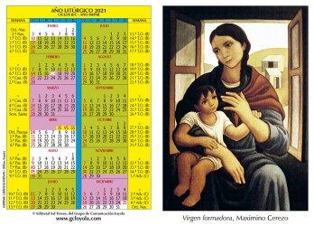 Calendario Litúrgico 2021-Imágen Vírgen