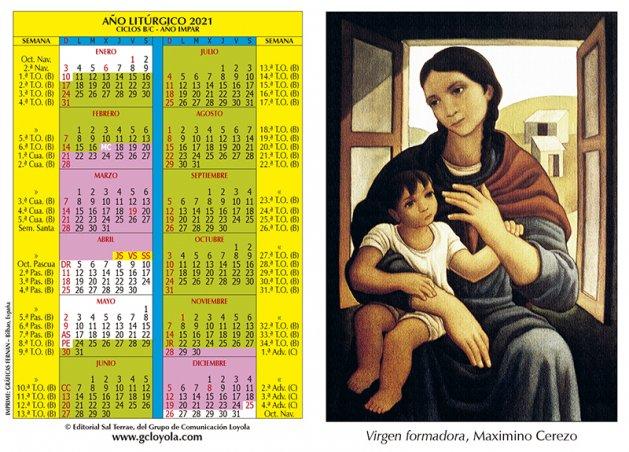 Calendario Litúrgico 2021 Imágen Vírgen