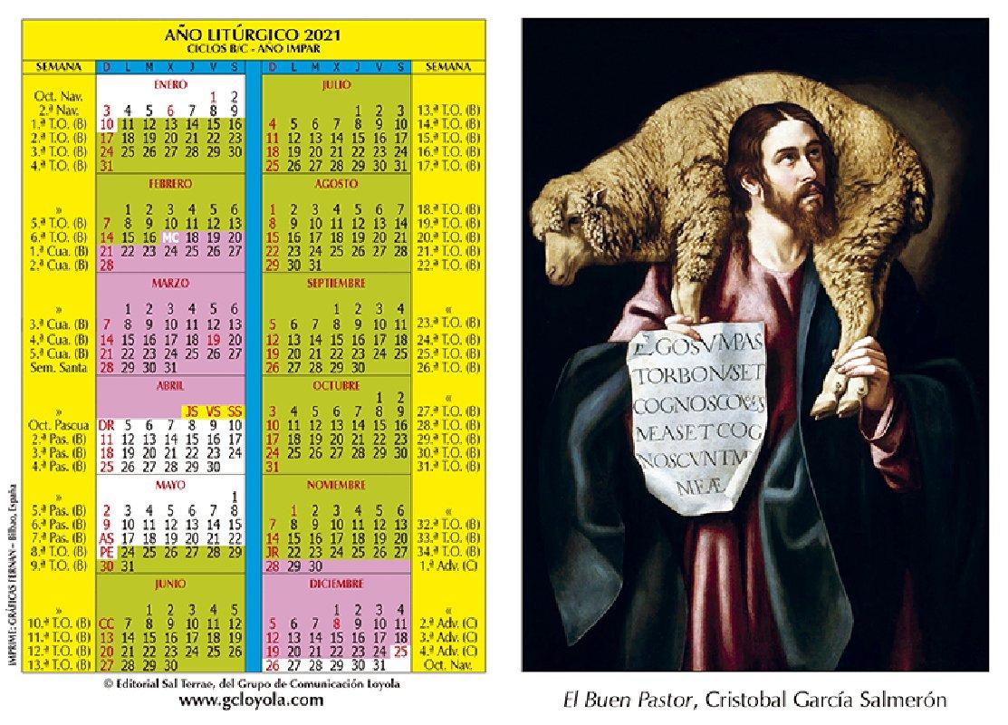 Calendario LitúRgico 2021 Calendario Litúrgico 2021 Imágen Buen Pastor